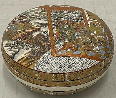 Exquisite Hand Painted Chinese Porcelain Lidded Bowl