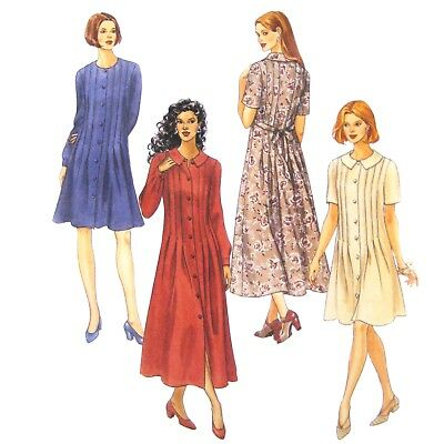 LADIES FRONT BUTTON DRESS w// FRONT-BACK TUCKS PATTERN 4-16 FF McCALL/'S #8488