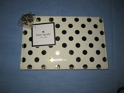 Kate Spade Gold Dots Pencil Pouch - NWT
