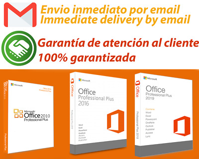 licencia Microsoft office professional plus 2010 / 2016 / 2019 Entrega inmediata