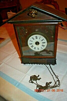 Antique/Vintage Mantle Cuckoo clock for project or parts