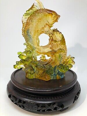 Chinese Hand Made Glass Artwork | Signed And Numbered With Seal