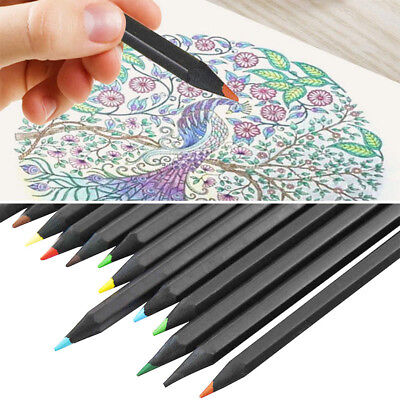 24-Color Oil Base Art Sketching Drawing Colouring Pencils Set Sketch Non-toxic #