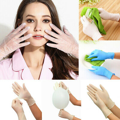Lot 100PCS Disposable Latex Gloves Food Service Cooking Cleaning Gloves