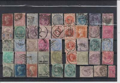 18??-19??-British Colonies & Territories-Lot 45 Stamps-Old Collection.-No Gum-2