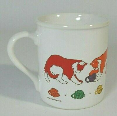 *Vintage 1984!* Rainbow Colored Kitty Cats Ceramic Mug by Current, Inc