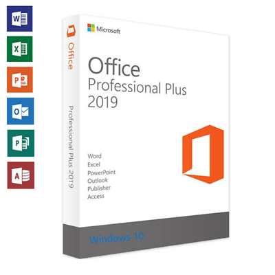 Microsoft Office 2019 Professional Plus - Official Download & Key- 32/64 Bit ESD