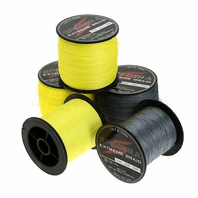 Super Strong Dyneema Spectra Extreme Braided Fishing Line 300M /500M Grey/Yellow