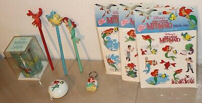 THE LITTLE MERMAID early 1990's Lot of 9 Collectable items from DISNEY