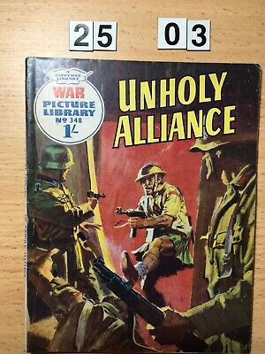 """Fleetway War Picture Library Comic # 348 from 1966. """"Unholy Alliance"""" VG Cond."""