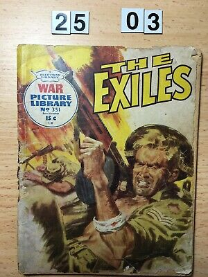 """Fleetway War Picture Library Comic # 351 from 1966. """"The Exiles"""" Average Cond."""