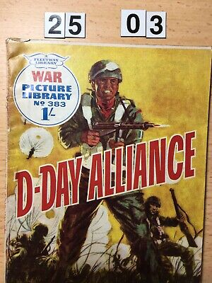 """Fleetway War Picture Library Comic # 383 from 1967. """"D-Day  Alliance"""" VG Cond."""