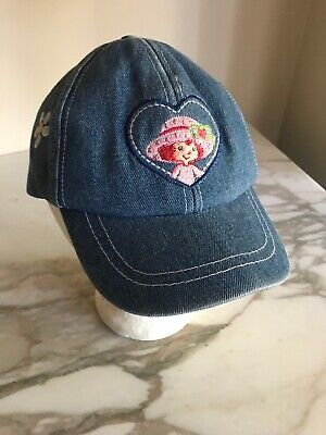 Strawberry Shortcake Berry Patch Girl Baseball Cap Hat Blue Denim Youth