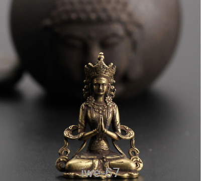 China old antique Pure copper solid Bodhisattva Buddha statue