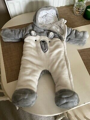 Teddy Bear Snow Suit Baby 6-9 Months Boy Girl Unisex Vgc