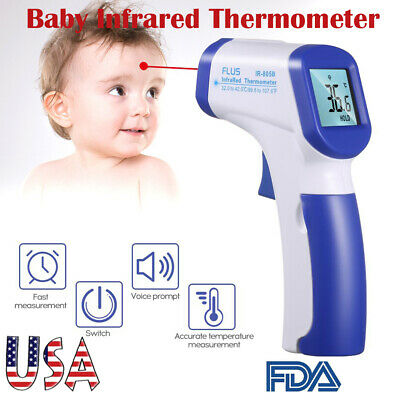 LCD Digital Non-contact IR Infrared Thermometer Baby Forehead Body Temperature