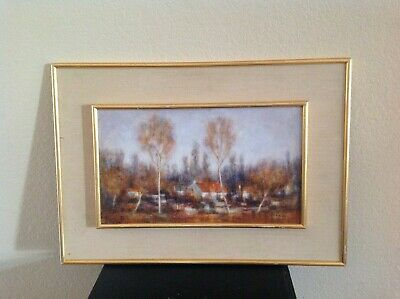 JEAN - LOUIS VERGNE (FRENCH b.1929) PLEIN AIR PAINTING ON CANVAS - OIL PAINTING