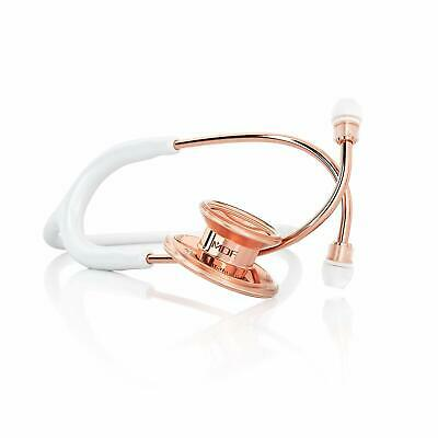 Rose Gold Stainless Steel Premium Dual Head Stethoscope White, New!