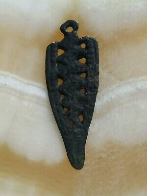 Ancient copper pendant of the Vikings 10-12 century.