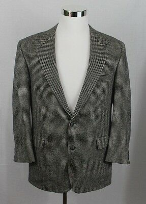 Brooks Brothers Blazer Mens 42 Reg Camel Hair Houndstooth Sport Coat Suit Jacket