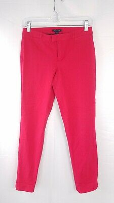 """Tommy Hilfiger Pants """"Madison"""" Stretch Slim Fit Red Dress Bottoms Womens Size 4"""