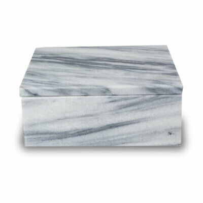 Cloud Marble Cremation Urn for Ashes - Extra Small Cloud Gray