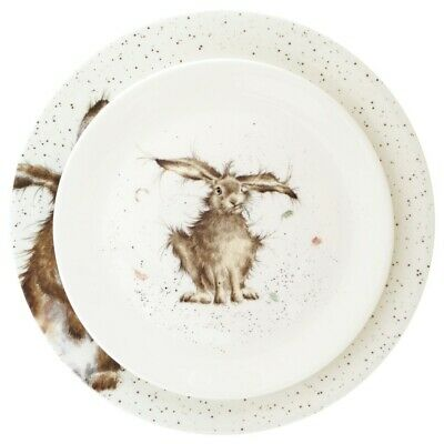 Wrendale Hare Dinner Plate and Hare Salad Plate - Royal Worcester