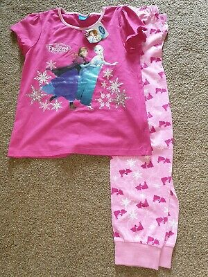 New Debenhams DISNEY FROZEN 5-6years Girls Pink Short Sleeved Pyjamas -anna Elsa