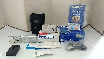 VINTAGE Lot of 9 OLYMPUS CAMERAS! LI-40c Charger. UNTESTED!