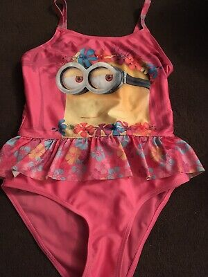 Minions Girls Swimsuit/swim Costume Age 9-10 Years, Pink