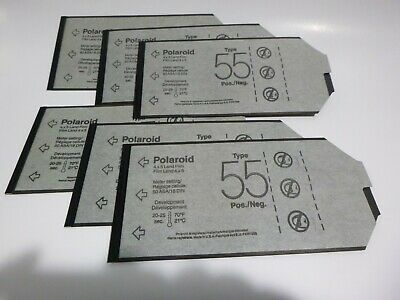 4X5 Polaroid Type 55  Film 6 Sheets t55 expired t 55