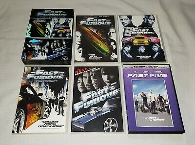 FAST & FURIOUS 4 Movie Collection DVD Box Set + F&F 5