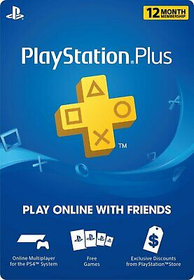 Sony Playstation Plus PSN 12 Month Membership Physical Card