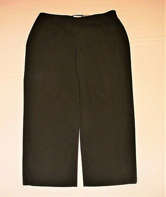 Talbots Womens Size 18W Dress Pants Brown Classic Fit Elastic Waistband Stretch