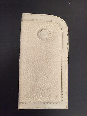 Dooney and Bourke All Weather Leather eyeglass soft case Ivory