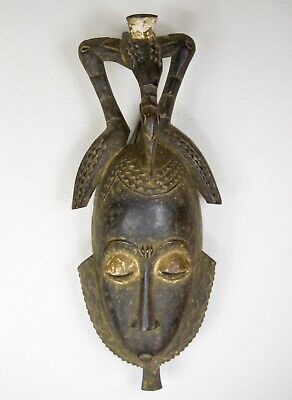 African Hand Carved Wooden Tribal Ceremonial Mask