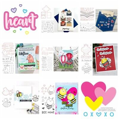 Heart Bee Clear stamps coordinating dies for DIY Scrapbooking Paper Card Craft
