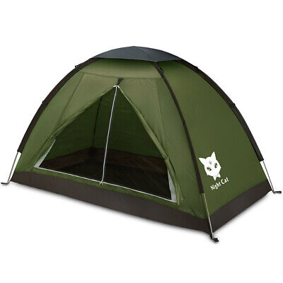 Night Cat Backpacking Tent for One Person Waterproof Hiking Camping Sun Shelter