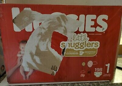 Huggies Little Snugglers Diapers, Size 1, 198 Count **BRAND NEW**