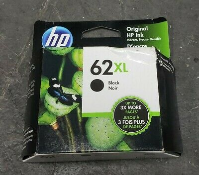 HP C2P05AN Genuine Ink Cartridge HP 62XL Black Ink C2P05A in Box 03/2020 Exp.