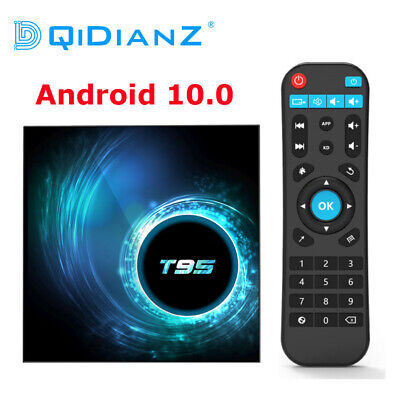 Android 10.0 T95 Smart TV Box 4 Go 32 Go Allwinner H616 Quad Core Décodeur