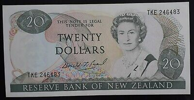 SCARCE 1989-92 New Zealand Reserve Bank $20 Banknote P 173c gEF