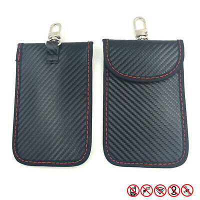 2x Car Key Faraday Bag Signal Shield Case RFID Cellphone Security Pouch
