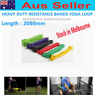 AU stock Heavy Duty RESISTANCE BAND YOGA LOOP HOME GYM FITNESS EXERCISE 5 size