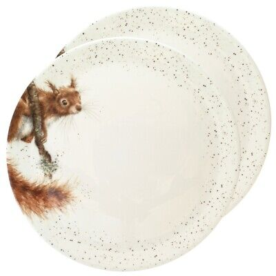 Royal Worcester Wrendale Squirrel Dinner Plates x 2 - NEW UNUSED