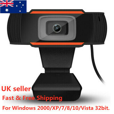 HD Rotatable USB 2.0 Webcam PC Digital Camera Video Recording with Microphone UK