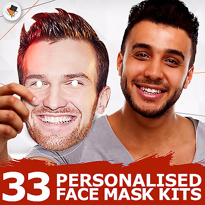 Assembled Or DIY Personalised Photo Face Masks Stag Hen Night 5 10 20 Wholesale