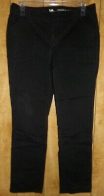 Lee Essential Chino Dress Business  Pants Black Women's Size 12 long