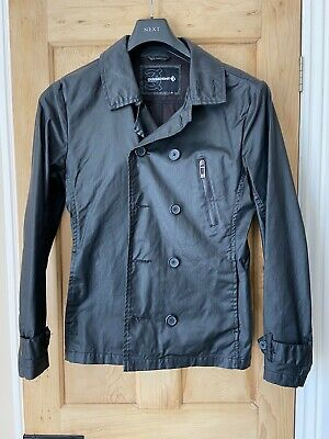 Men/'s Jacket Dissident Coat Leather Look PU Padded Sweat Hooded 1J6663