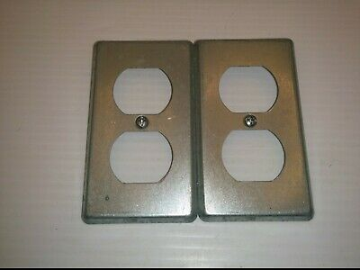 """STEEL CITY 58-C-7 DUPLEX RECEPTACLE COVERS, 2-3/8 x 4-1/4"""", (LOT OF 2), NNB"""